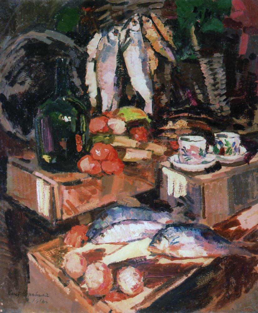 Константин Алексеевич Коровин. Рыбы. 1916