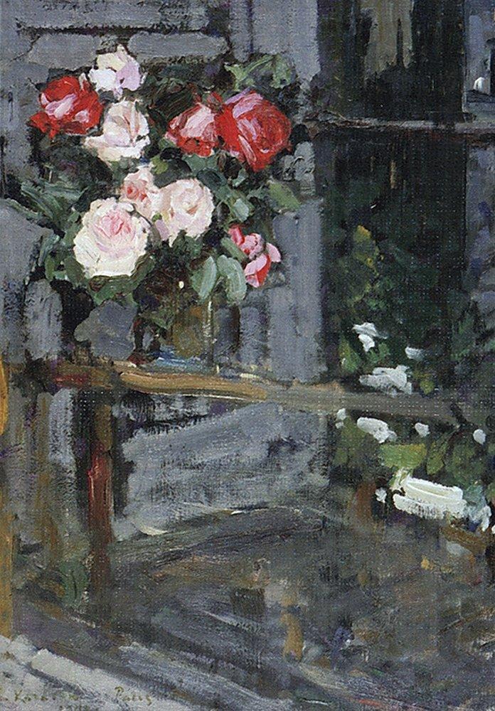 Балкон с цветами в живописи