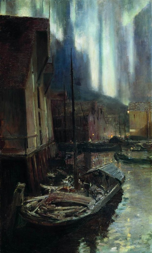 Константин Алексеевич Коровин. Геммерфест. Северное сияние. 1894-1895