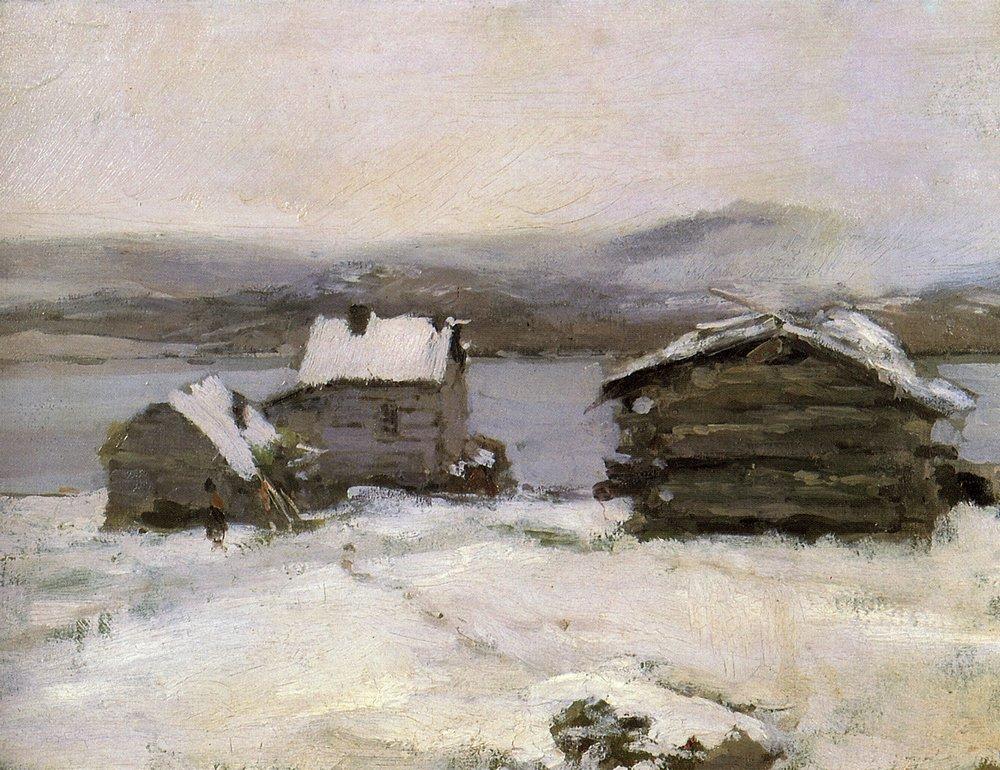 Константин Алексеевич Коровин. Зима в Лапландии. 1894
